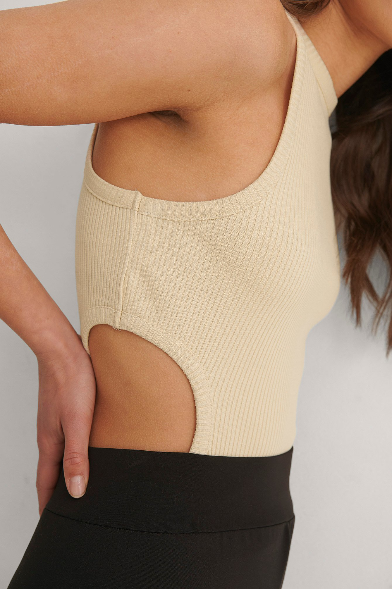 Sand Cut Out Detail Singlet