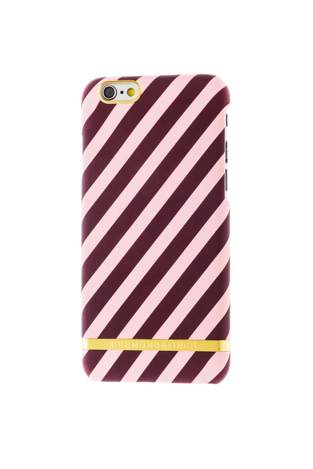 Berry Stripes iPhone 6 White