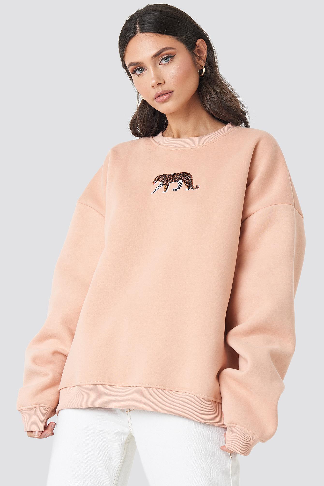 beyyoglu -  Tiger Sweatshirt - Pink