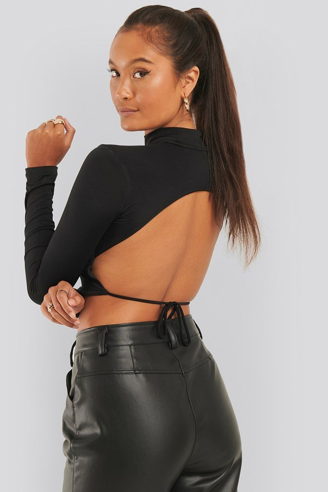 Back Detail Top Black