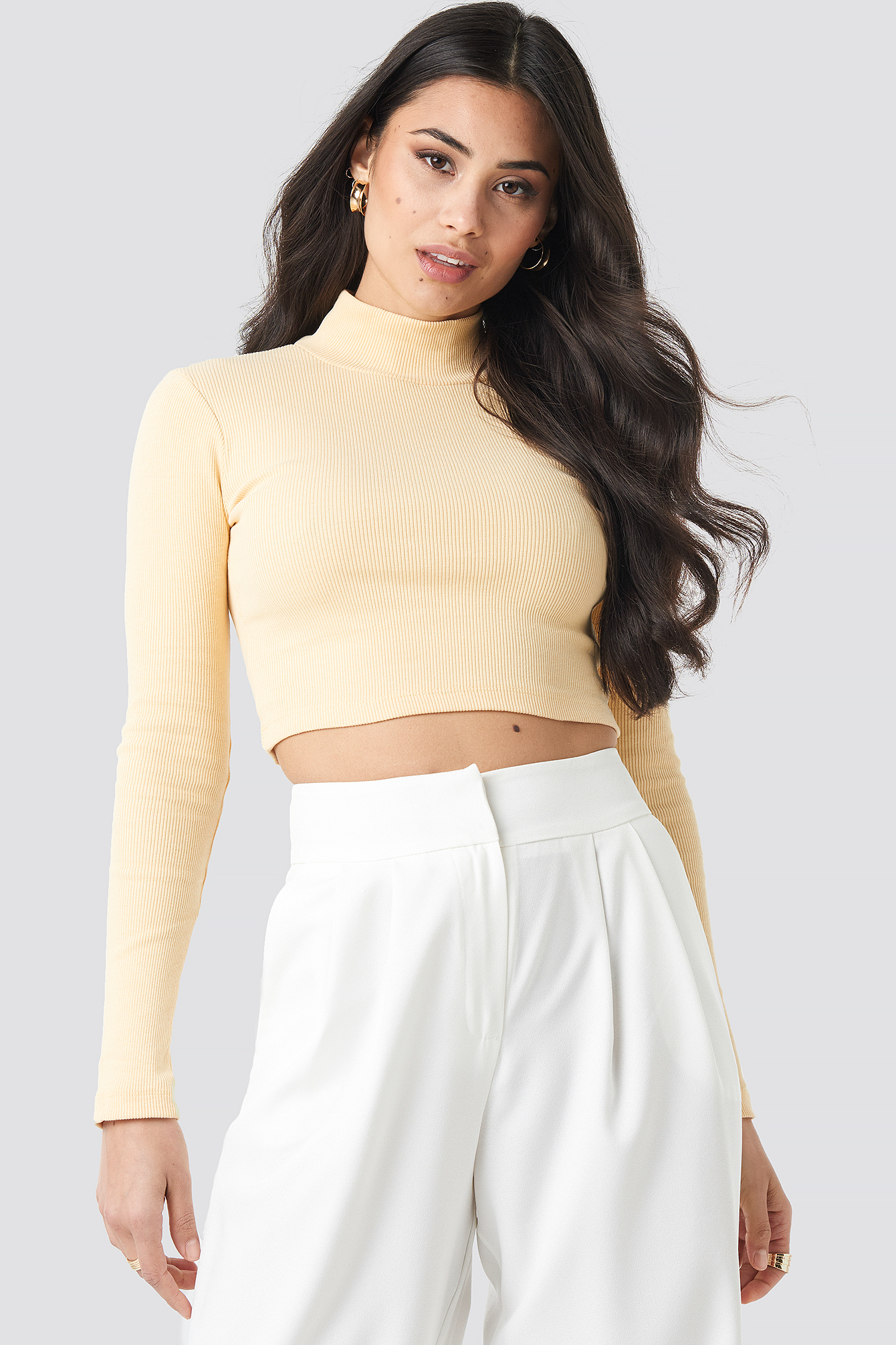 Half Turtleneck Crop Top NA-KD.COM