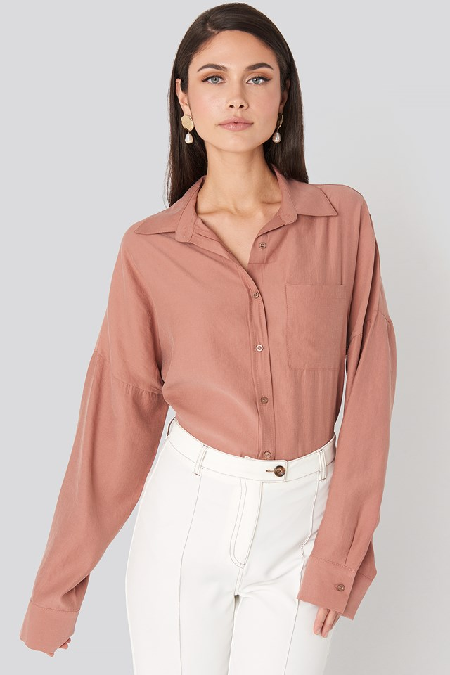 Oversize Modal Shirt Old Rose
