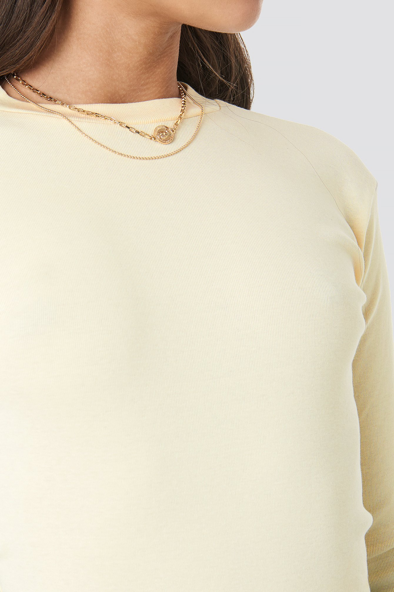 Cream Ribbed Top