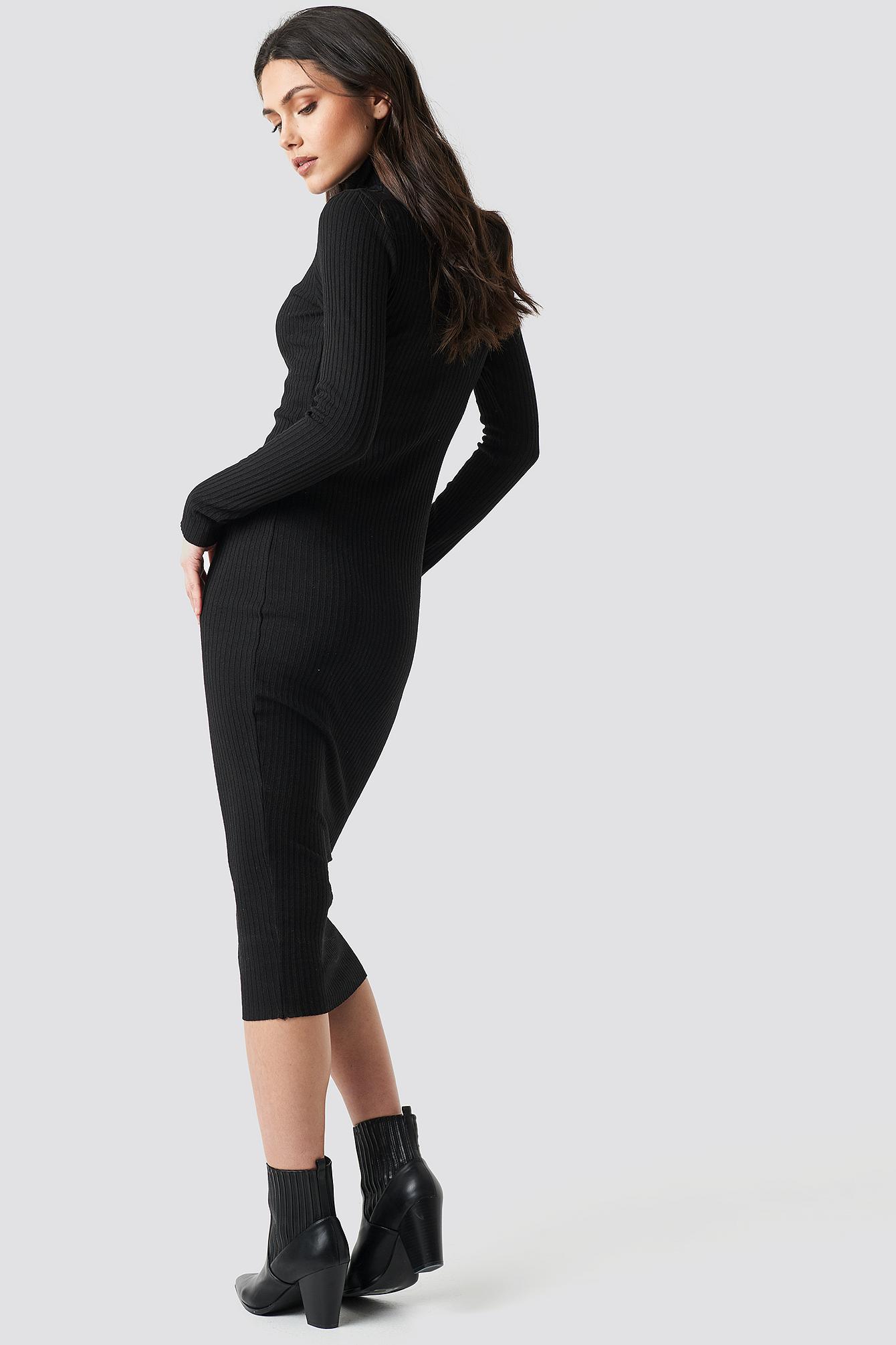 Ribbed Slim Dress NA-KD.COM