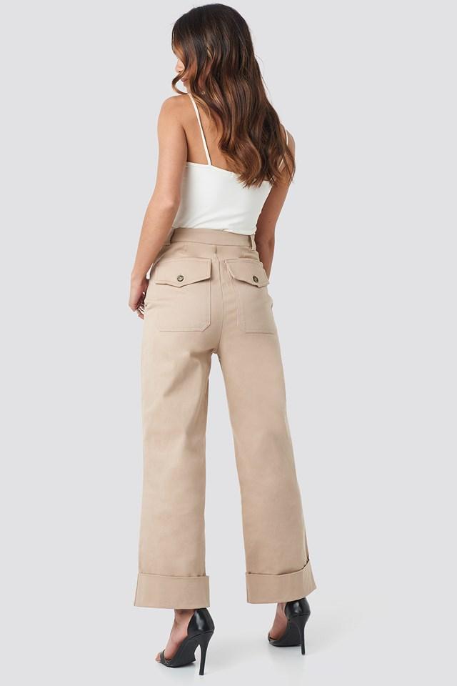Straight Cut Pants NA-KD.COM