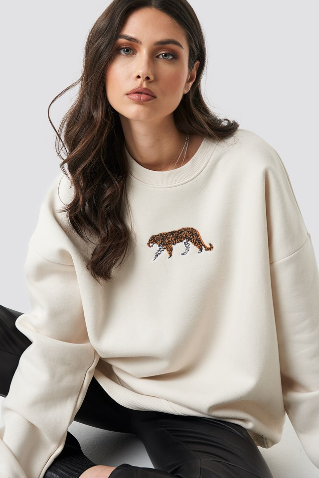 Tiger Sweatshirt Cream