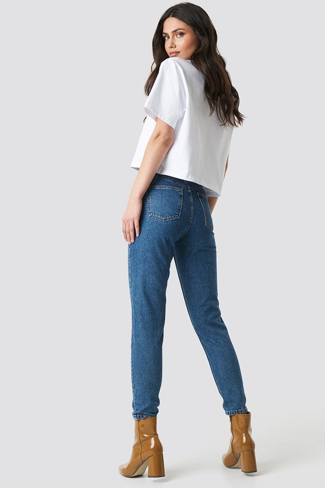 Mom Jeans MB Mid Blue