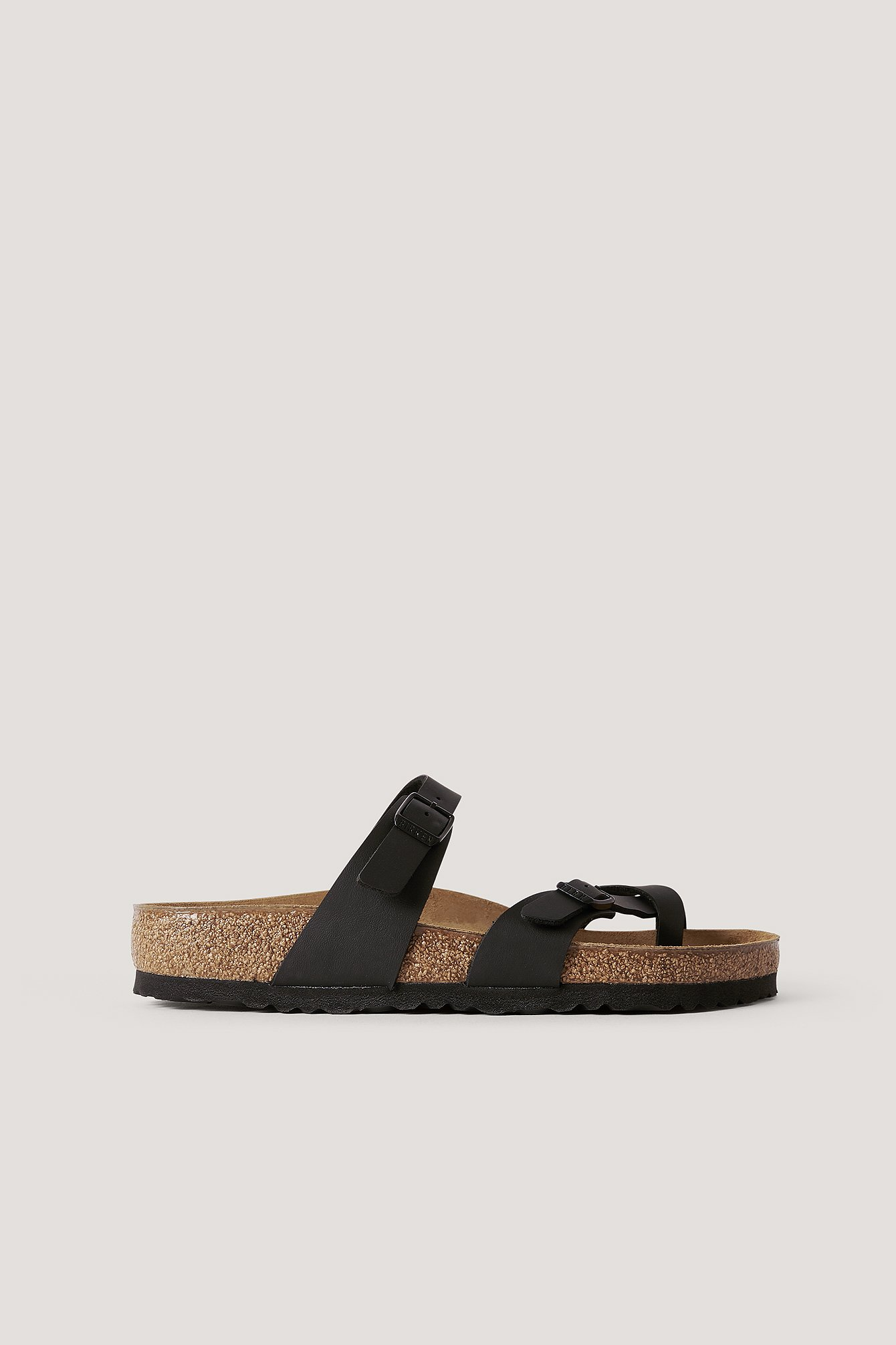 Black Slip-In Sandaal