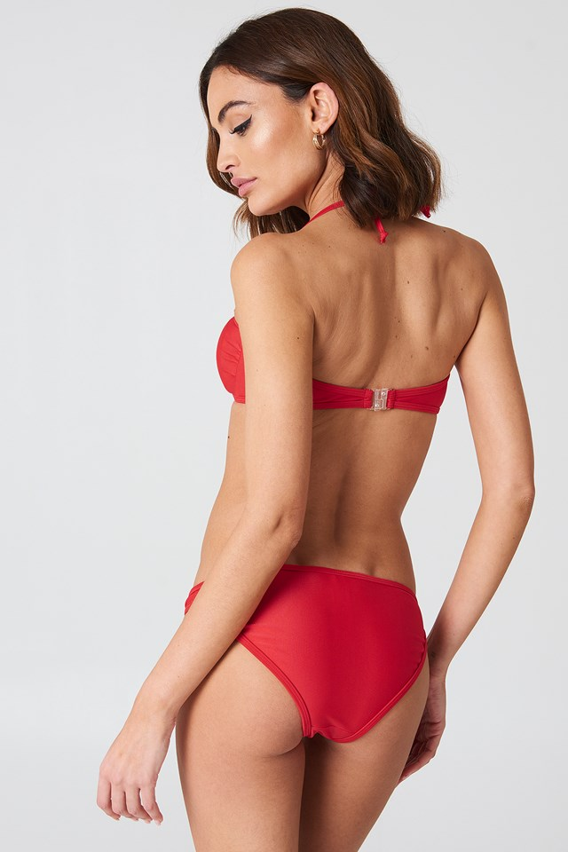 Casablanca Bandeau Bikini Set Red
