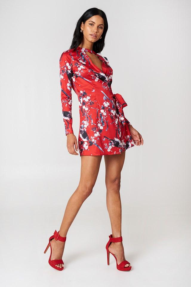 Floral Wrap Dress Multi