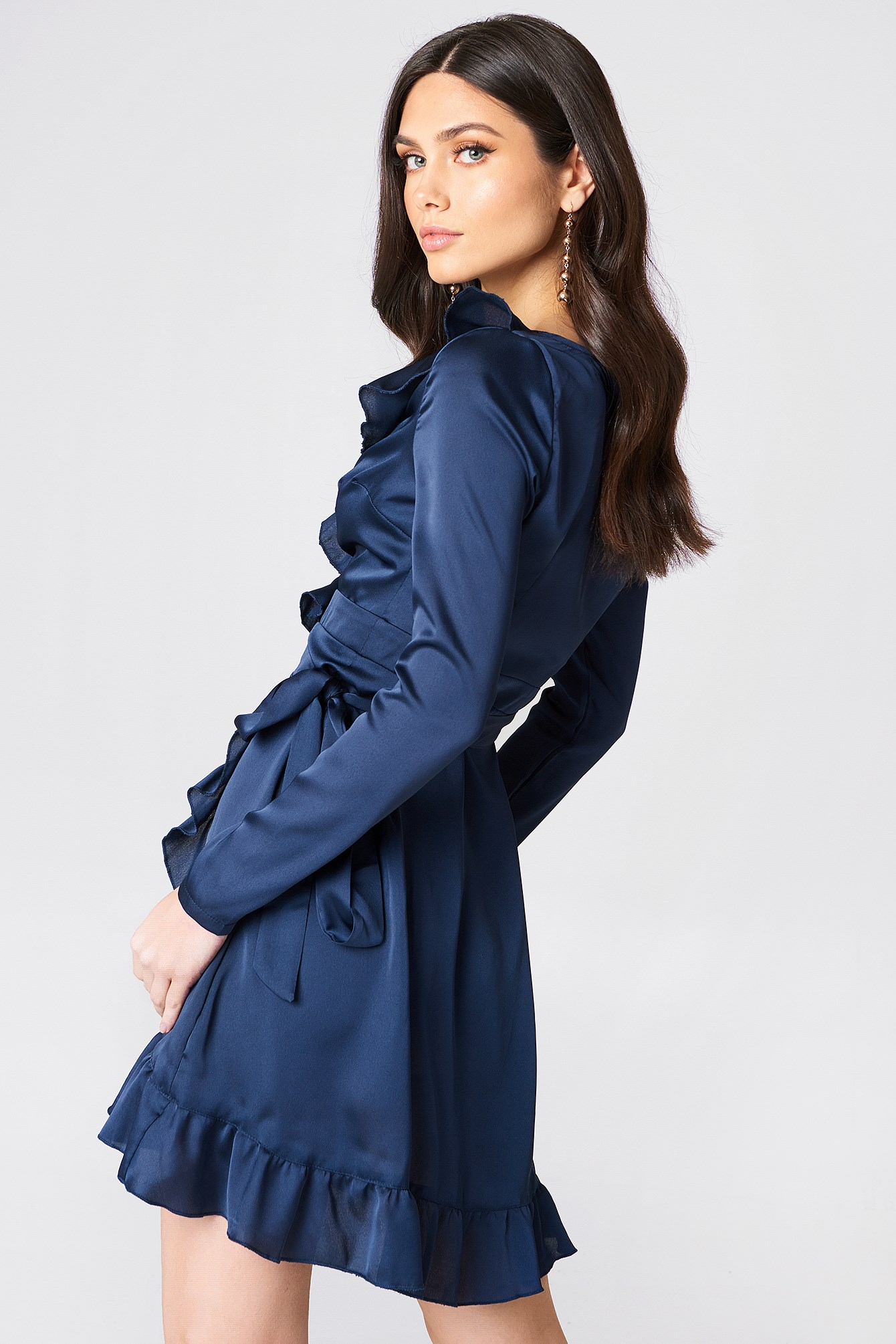 Frill Sleeved Dress NA-KD.COM