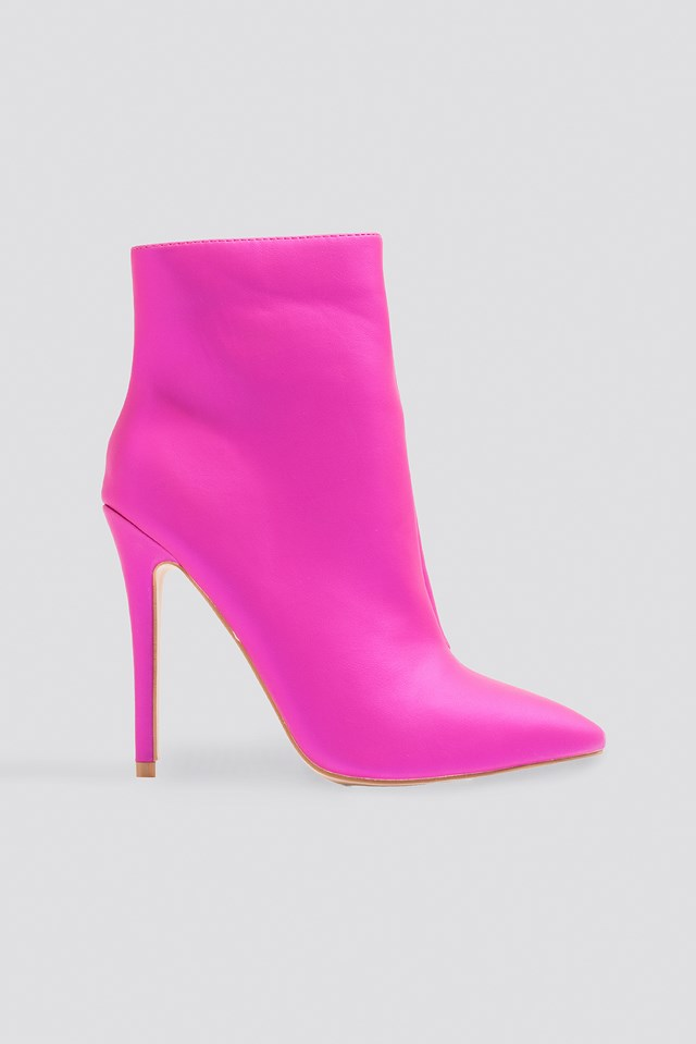 Pearl Ankle Boot Pink