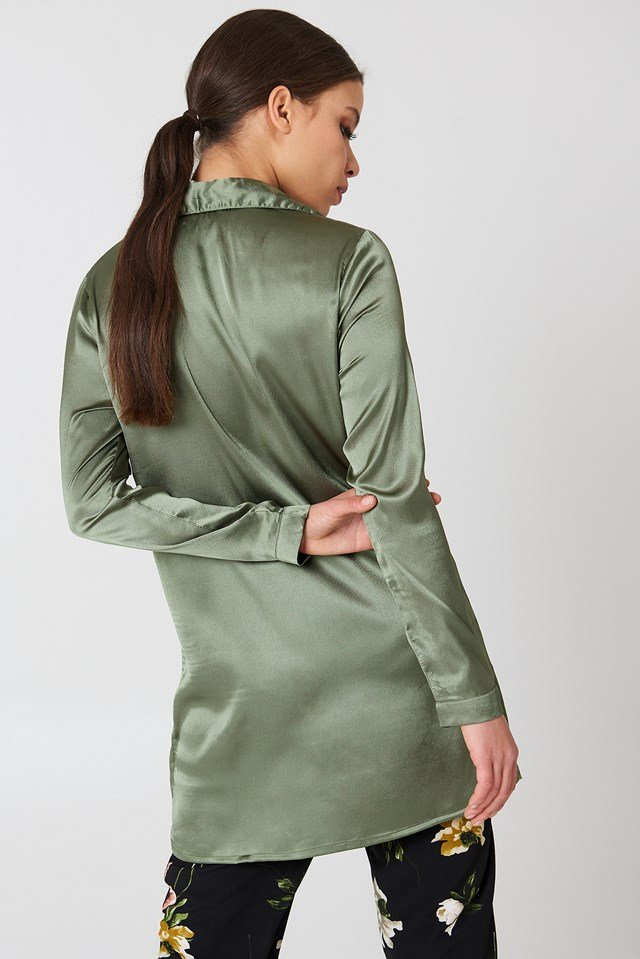 Satin Dress Khaki