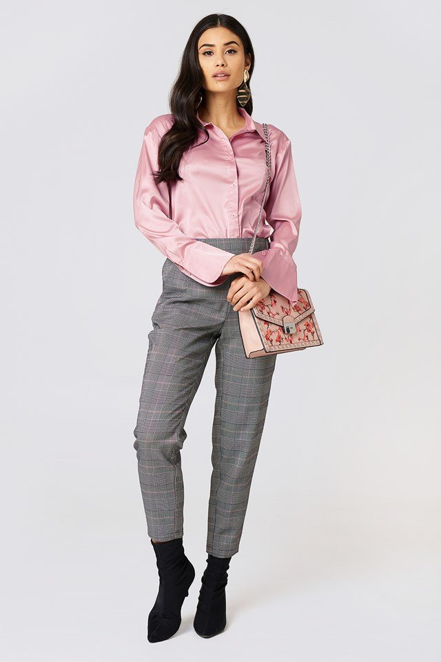 Satin Shirt Rose