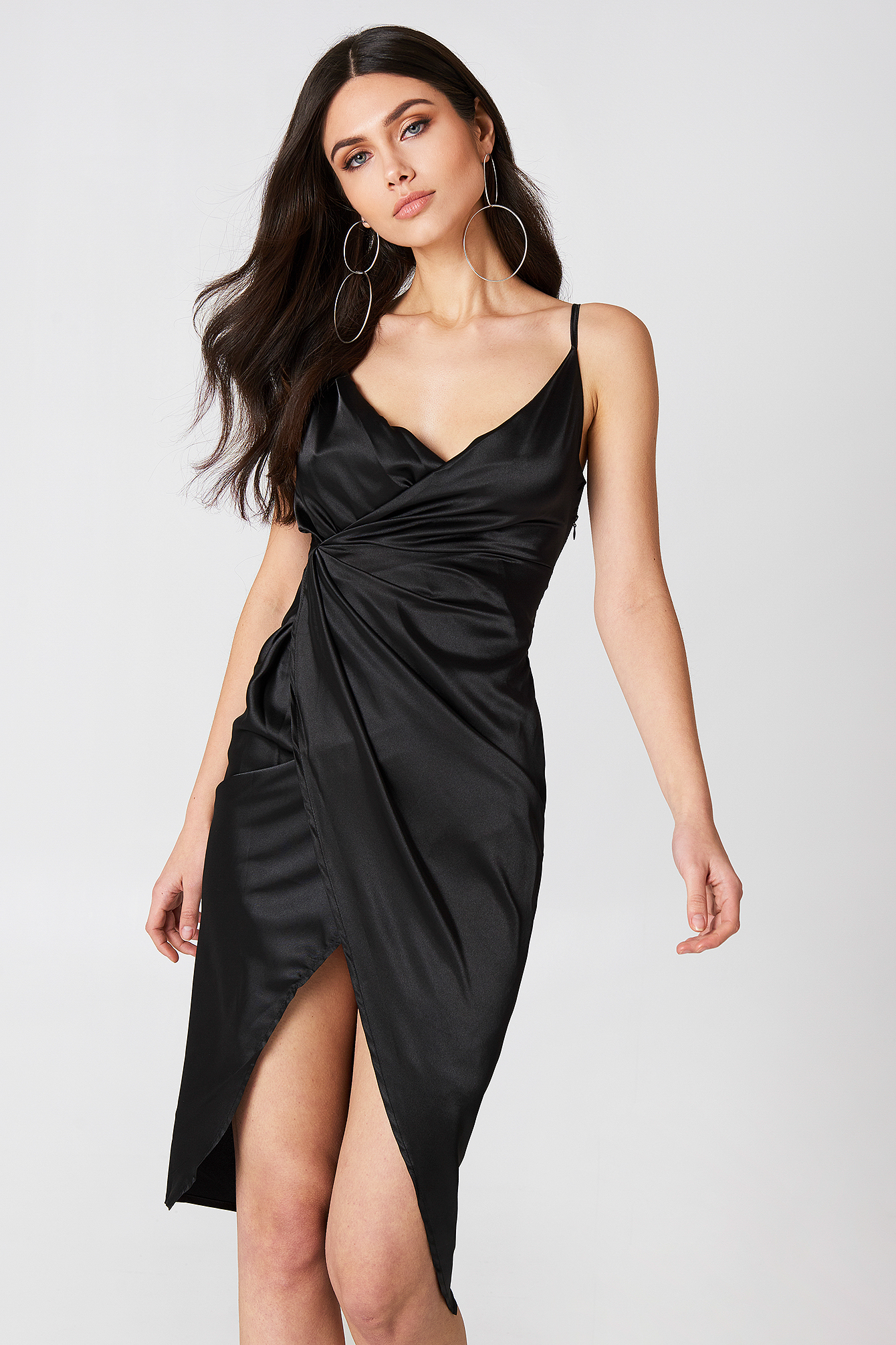 Satin Strappy Dress NA-KD.COM