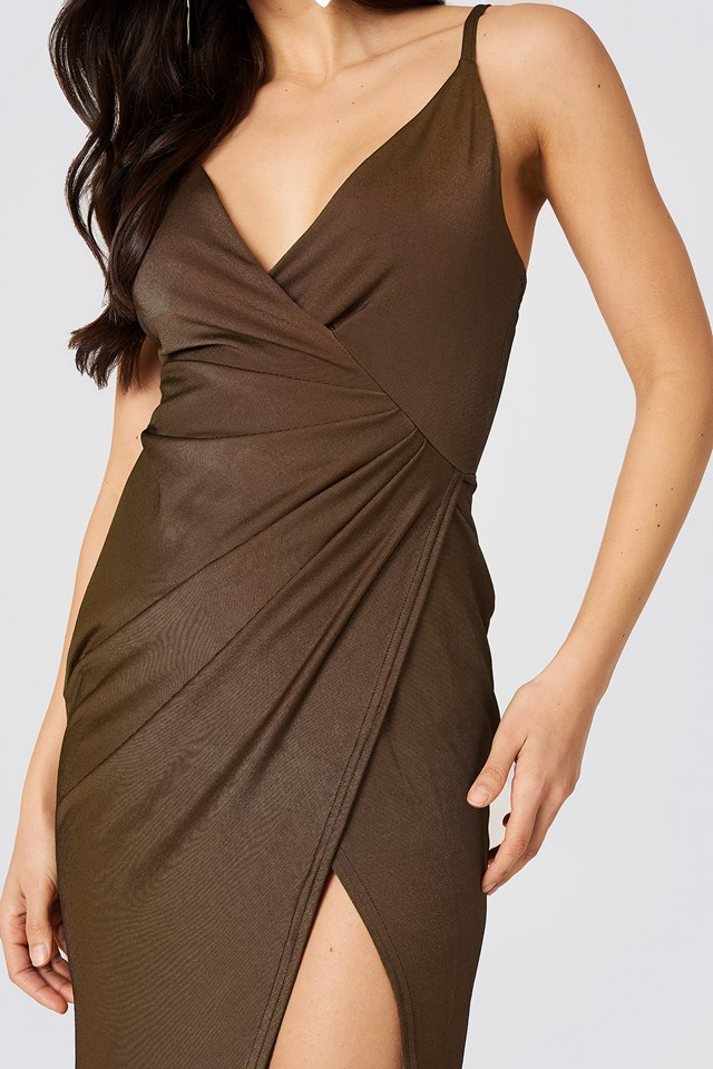 Slinky Draped Dress Copper