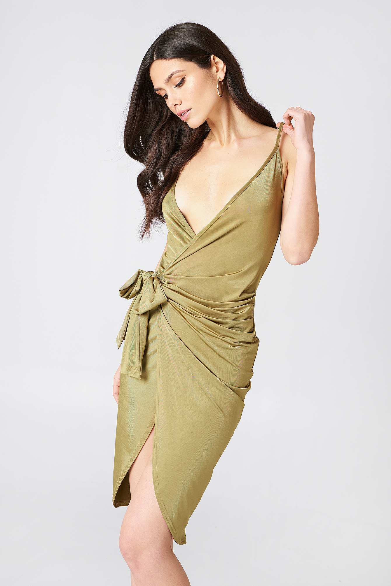 Strappy Knot Wrap Dress NA-KD.COM