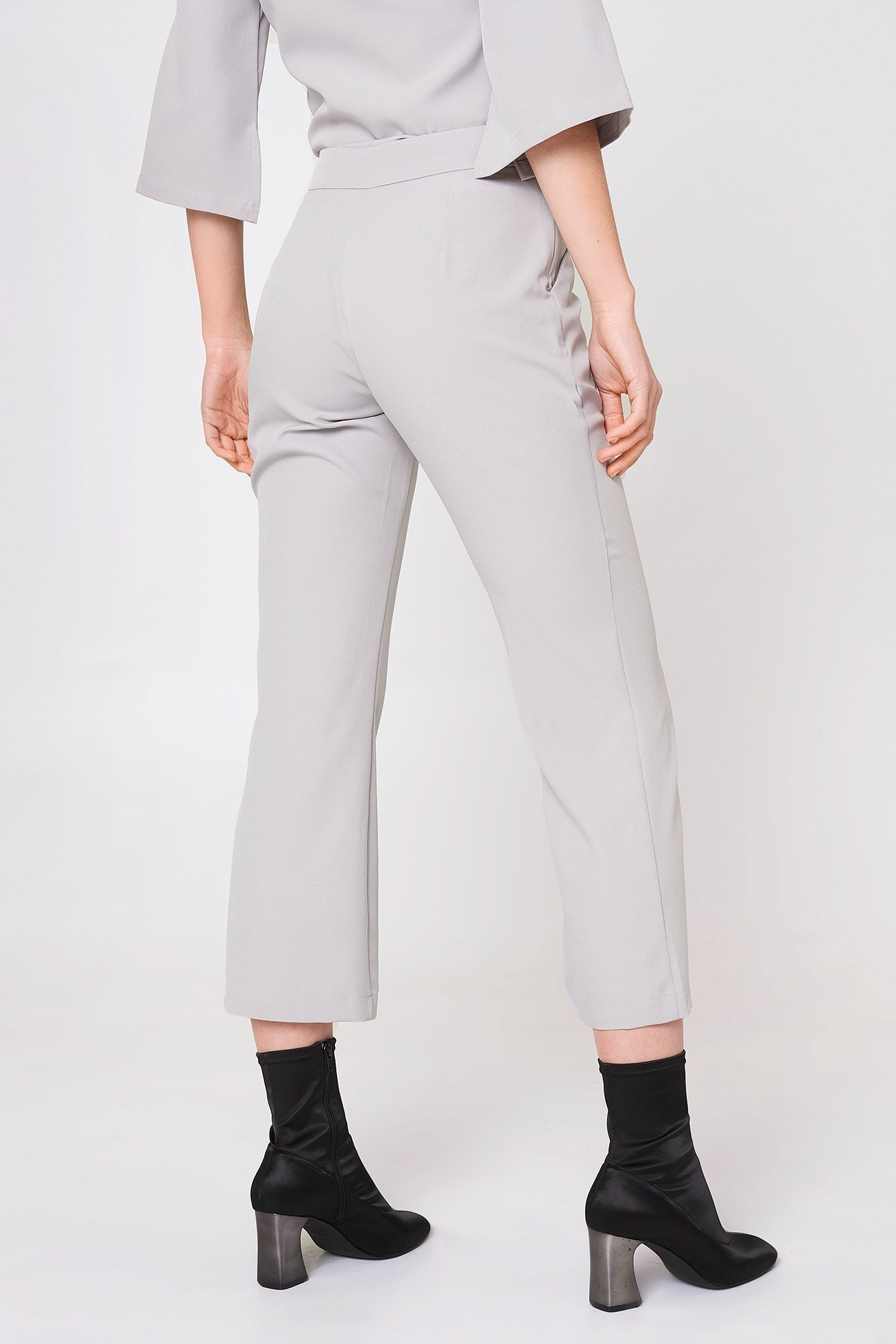 Tie Front Top and Flare Trouser Set NA-KD.COM