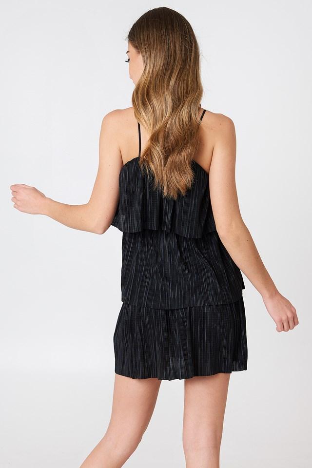 Tie Pleated Dress NA-KD.COM