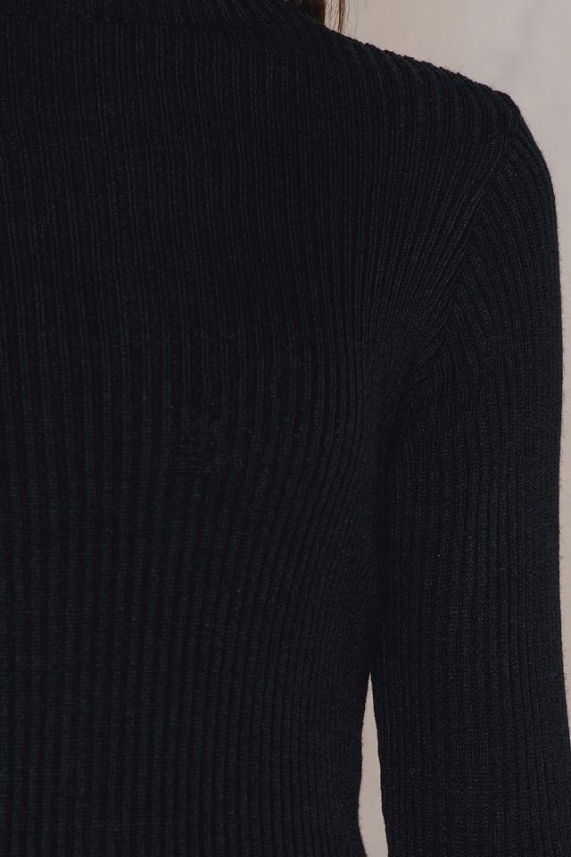 Wide Sleeve Dress Black
