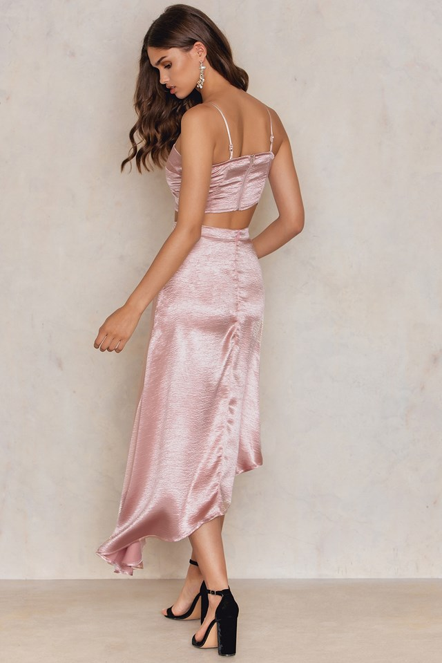 Wrap Skirt & Bralet Co-ord Nude