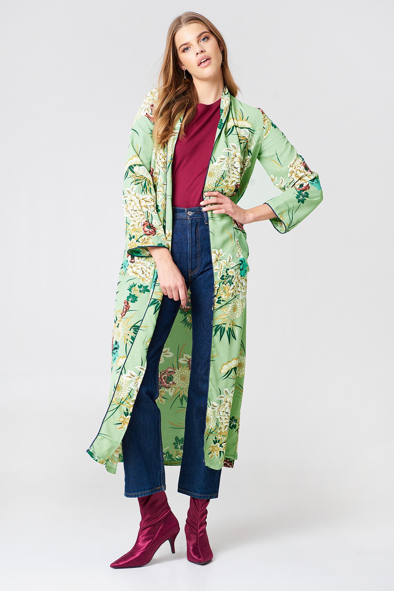 Floral Maxi Kimono NA-KD.COM