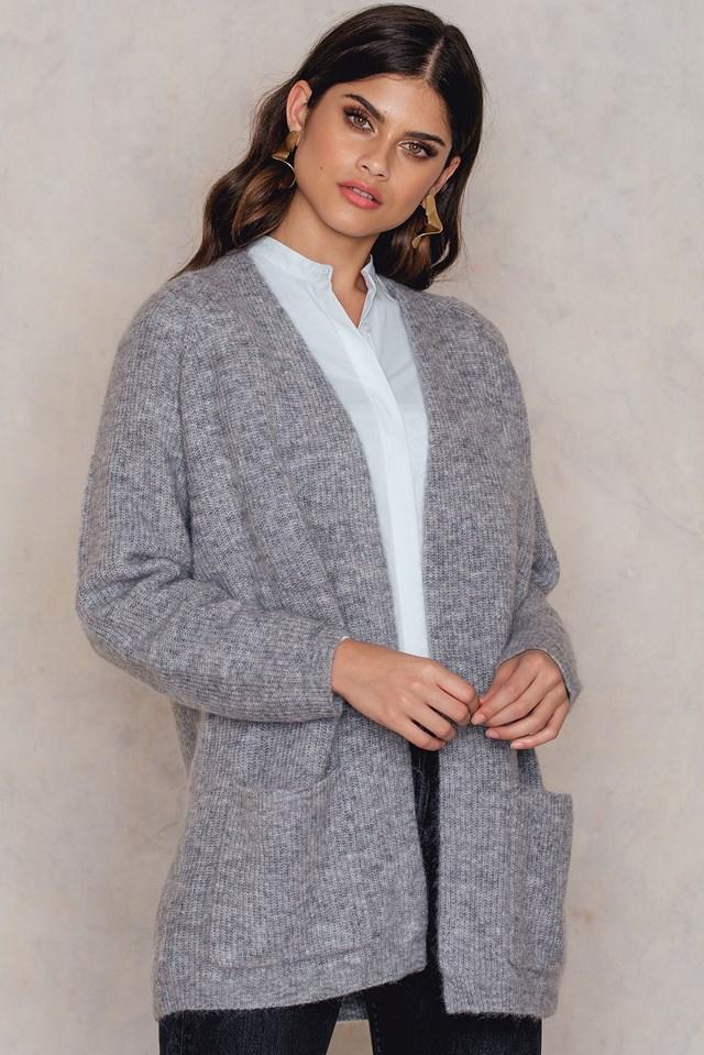 Belinta Cardigan Medium Grey Melange