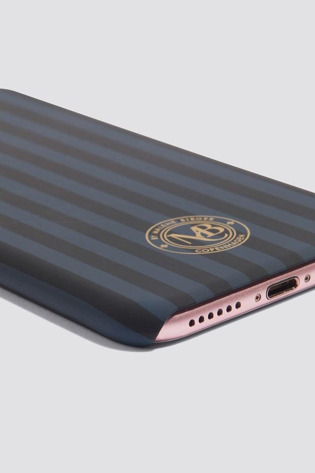 Pamsy Striped iPhone 7/8 Case Navy Blazer