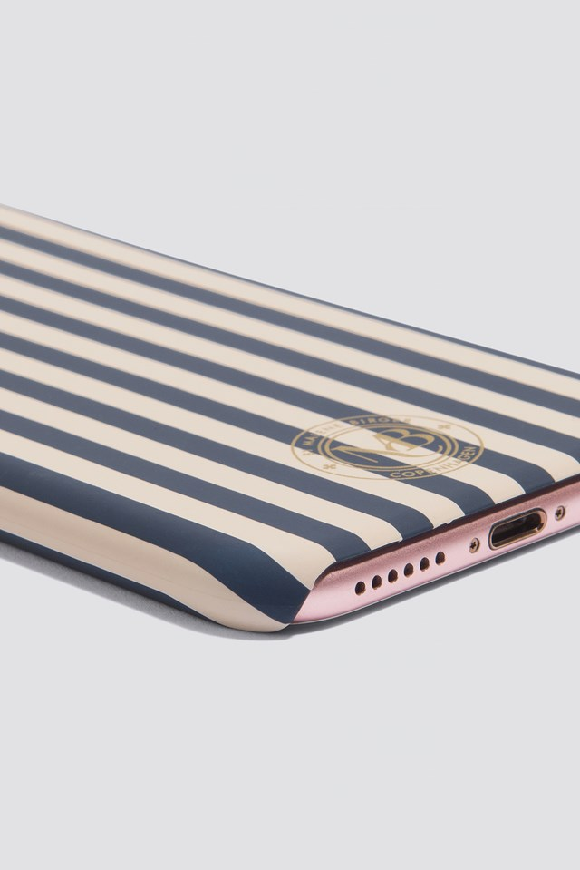Pamsy Striped iPhone 7/8 Case Linen Rose