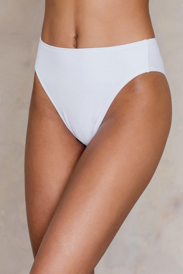 High Waist Bikini Bottom White
