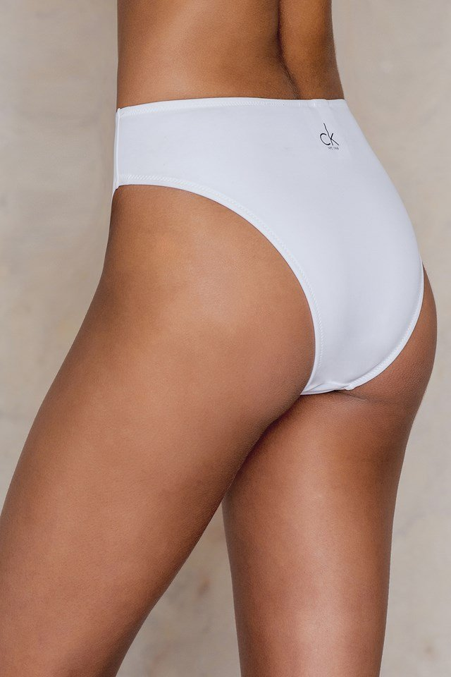 High Waist Bikini Bottom White