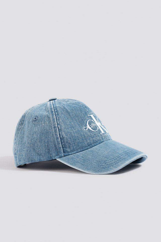 J Monogram Denim Cap NA-KD.COM