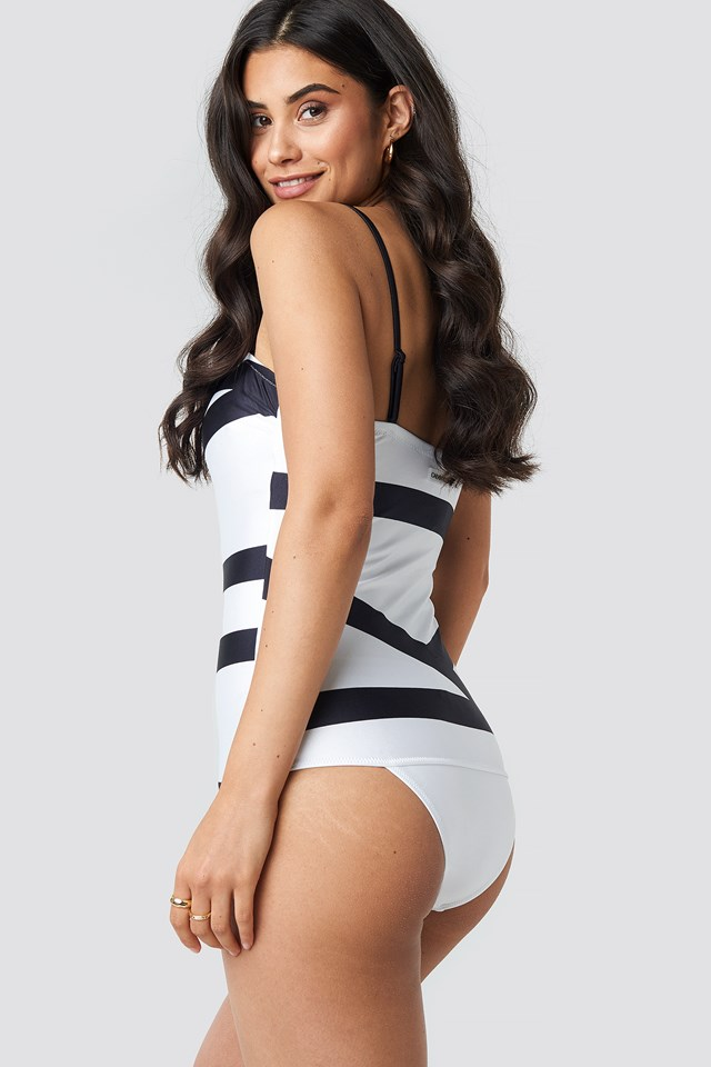 Bandeau One Piece Swimsuit White