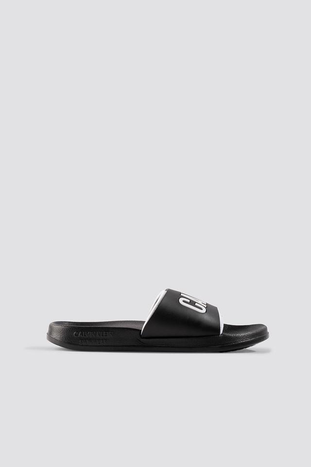 Beach Slides Black/White