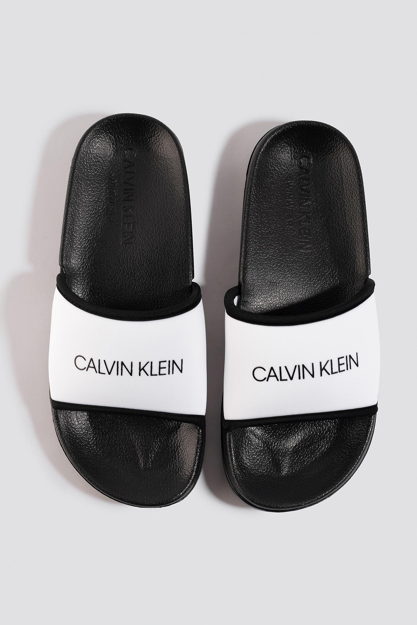 calvin klein -  Beach Slides - White