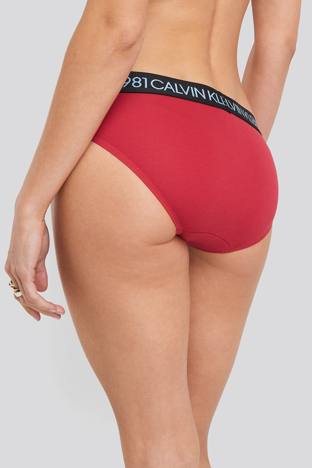 Bikini Coordinate Cotton Panties Red