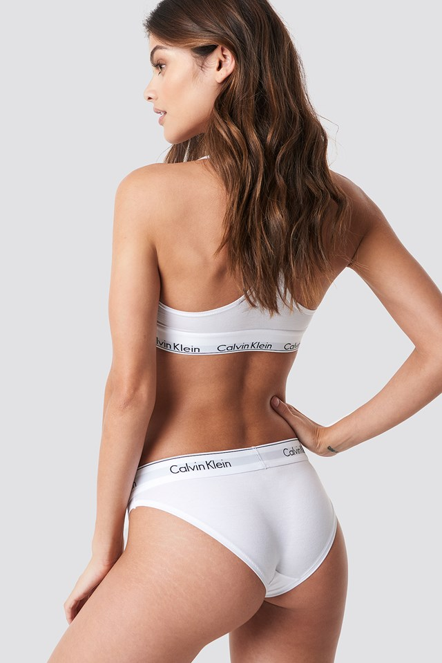 Majtki bikini Modern Cotton White