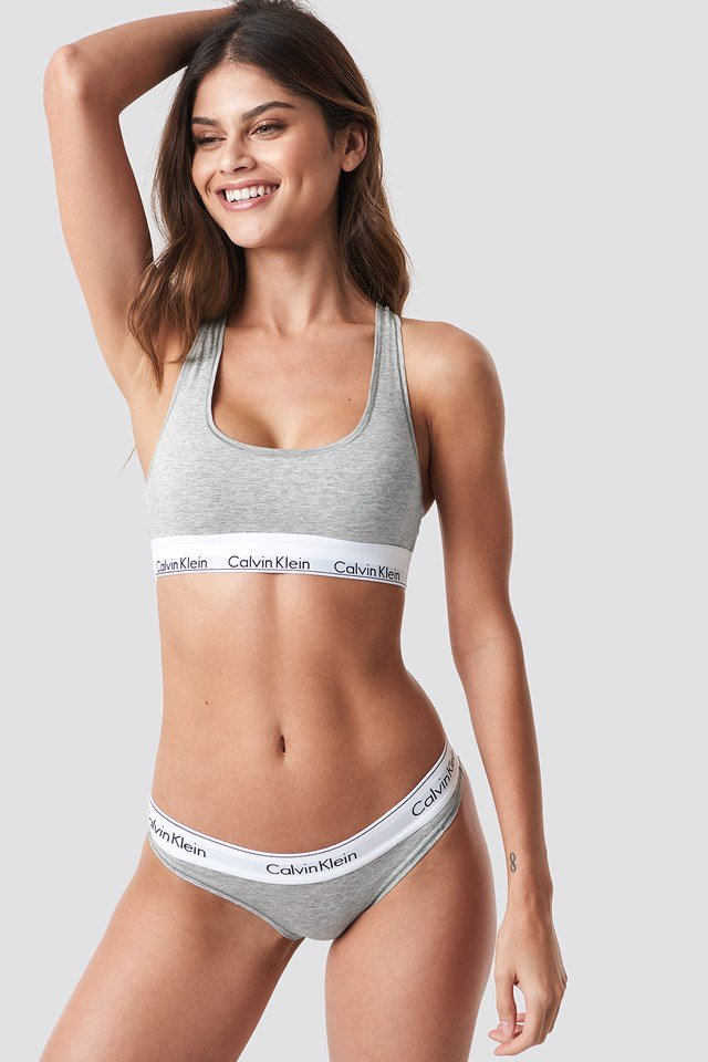 Bikini Modern Cotton Grey Heather