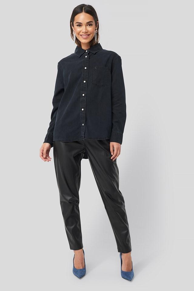 Boy Shirt Blue Black Denim