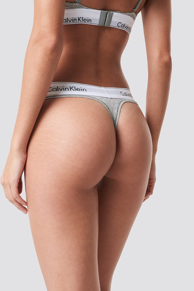 Thong Modern Cotton Grey Heather