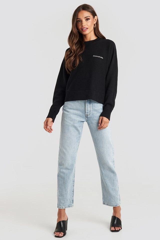 Calvin Back Logo Sweater Black