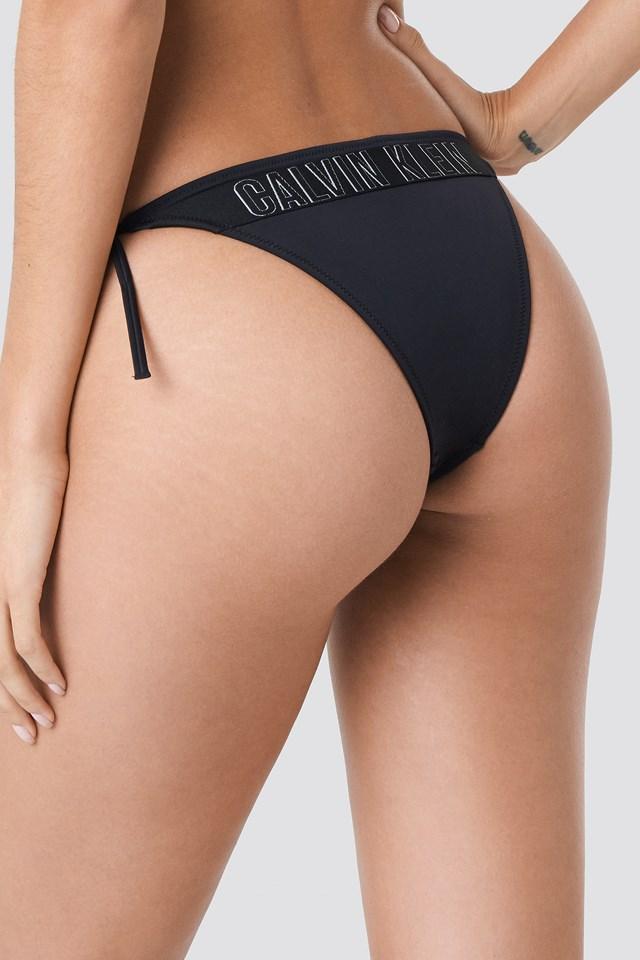Cheeky String Side Tie Bikini PVH Black