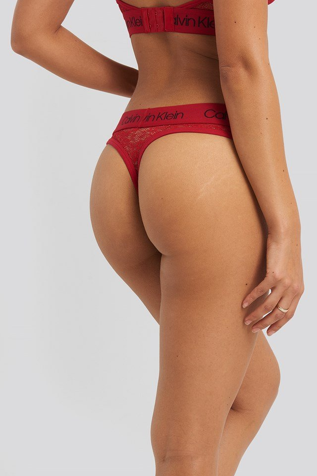 Coordinate Micro Thong Red