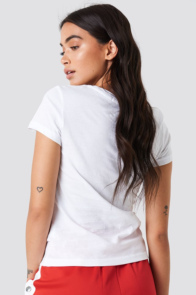 Core Institutional Logo Tee Bright White