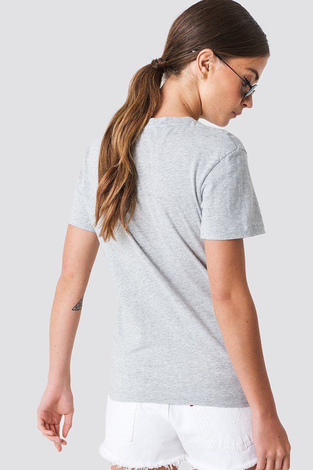 Core Monogram Logo Tee Light Grey Heather