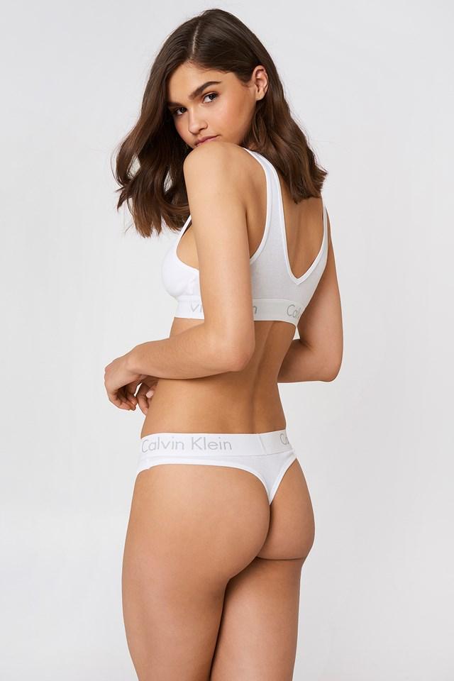 Cotton Thongs White