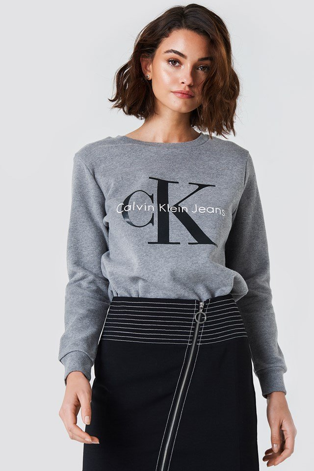 Crew Neck True Icon Sweatshirt Light Grey Heather