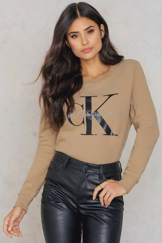 Crew Neck True Icon Sweatshirt Tannin