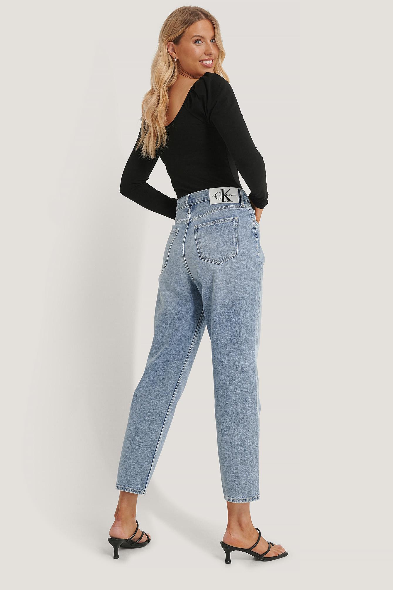 Calvin Klein Højtaljede Jeans - Blue