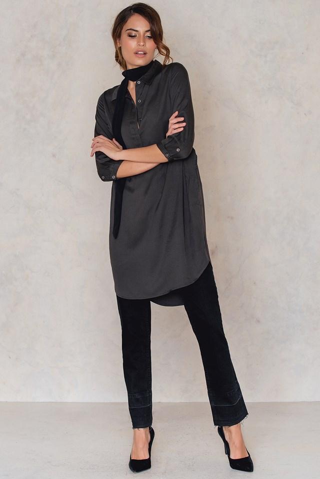 Darby Shirt Dress Phantom